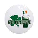 Go Green v5 Ornament (Round)