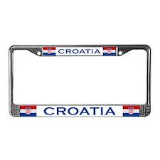 """Croatia Flag"" License Plate Frame"