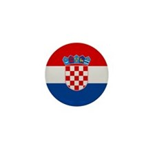 """Croatia Flag"" Mini Button (100 pack)"