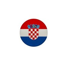"""Croatia Flag"" Mini Button"