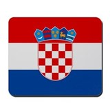 """Croatia Flag"" Mousepad"