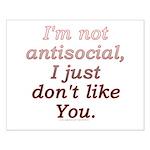 Funny Antisocial Joke Small Poster