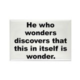 Cool M c escher quote Rectangle Magnet (10 pack)