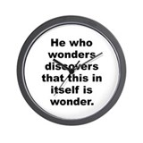M c escher quote Wall Clock