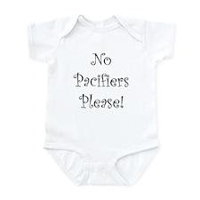 No Pacifiers Please! Infant Bodysuit