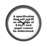 Ardis quote Wall Clock