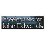 Freelancers for John Edwards bumper sticker