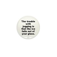 Cool Falling on ice Mini Button (100 pack)
