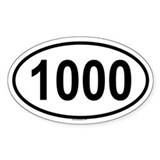 1000 Oval Decal