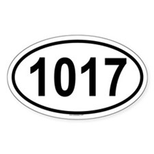 1017 Oval Decal