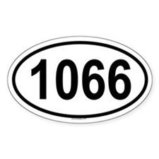 1066 Oval Decal