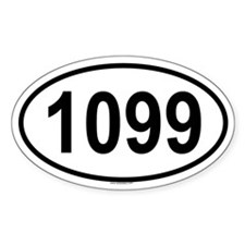 1099 Oval Decal