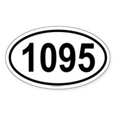 1095 Oval Decal