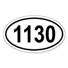 1130 Oval Decal