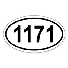 1171 Oval Decal