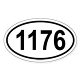1176 Oval Decal