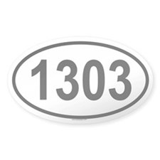 1303 Oval Decal