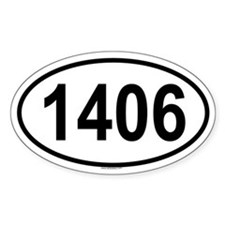 1406 Oval Decal