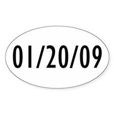 1-20-09 Obama Inauguration Day Oval Decal