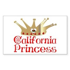 California Princess Rectangle Decal