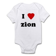 I Love zion Infant Bodysuit