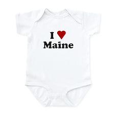 I Love Maine Onesie