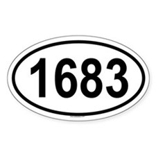 1683 Oval Decal