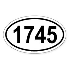 1745 Oval Decal