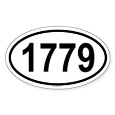 1779 Oval Decal