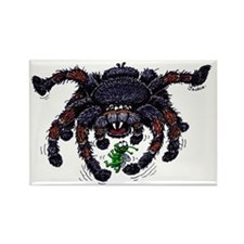 tarantula meets prey Rectangle Magnet (100 pack)