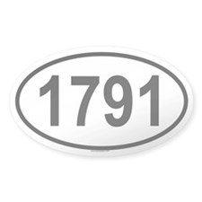 1791 Oval Decal