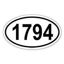 1794 Oval Decal