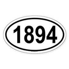 1894 Oval Decal