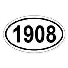 1908 Oval Decal