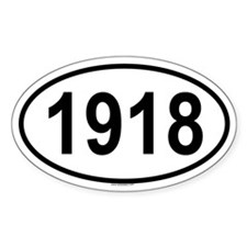 1918 Oval Decal