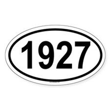 1927 Oval Decal