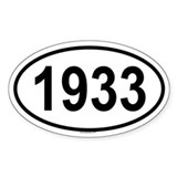 1933 Oval Decal