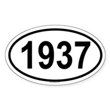 1937 Oval Decal