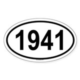 1941 Oval Decal