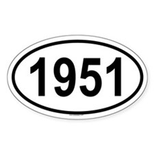 1951 Oval Decal