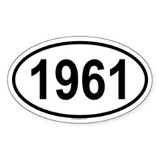 1961 Oval Decal