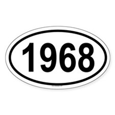 1968 Oval Decal