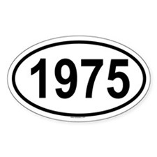 1975 Oval Decal