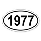 1977 Oval Decal