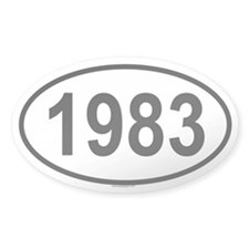 1983 Oval Decal