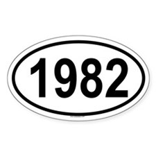 1982 Oval Decal