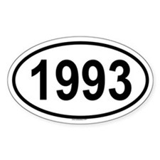 1993 Oval Decal
