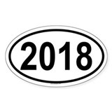 2018 Oval Decal