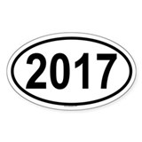 2017 Oval Decal