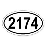 2174 Oval Decal